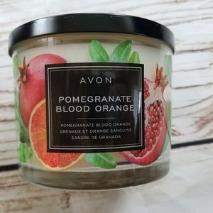 Avon Three Wick Pomegranate Blood Orange Candle